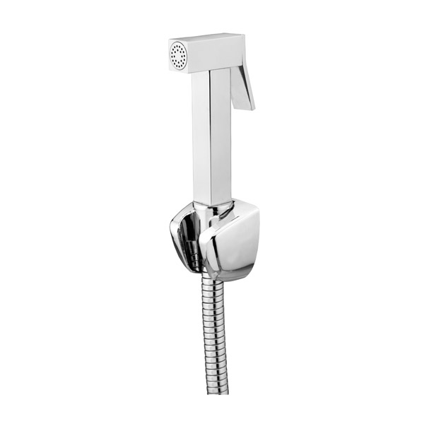 AD- 3017 Brass Health Faucet Sqaure with 1.5 meter Brass tube