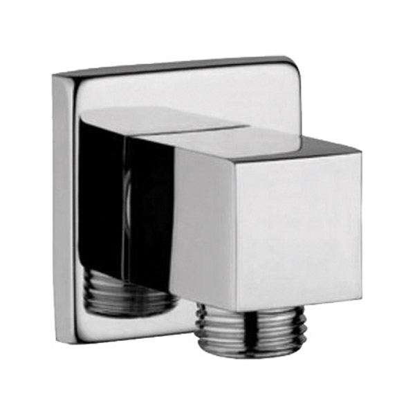 AD – 3034 Wall outlet Square with 15mm Thread to connect hand shower Pipe & Flange